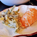 Photos: だいこん ( 練馬区旭町 or 成増 ) わらびとパプリカの天ぷら ( 焼魚定食 )  2019/05/18