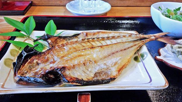だいこん ( 練馬区旭町 or 成増 ) アジの開き ( 焼魚定食 )  2019/05/18