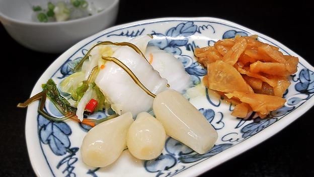 花水木 ( 成増 ) 漬け物盛り合わせ  2019/08/21