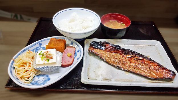 花水木 ( 成増 ) 焼き魚定食 ( 鯖 )  2019/09/17