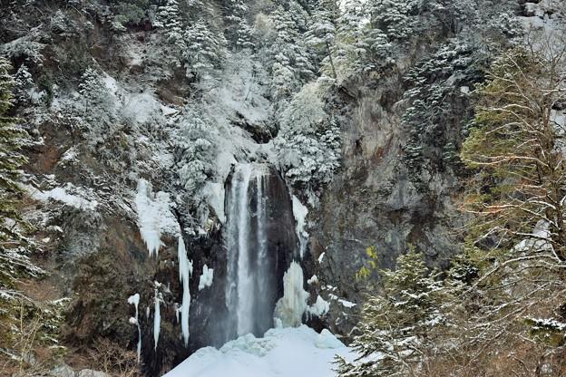 写真: 凍る滝 さすらいの旅日記から