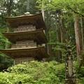 駒ヶ根光前寺の3重の塔