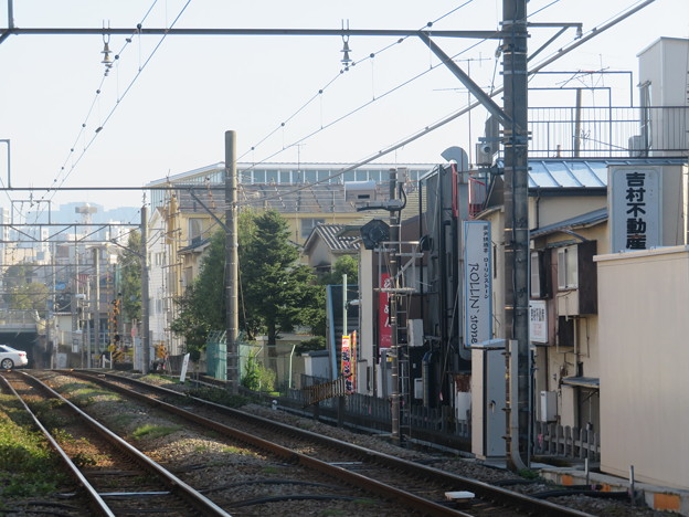 旗の台駅(池上線)上りホームから五反田方面