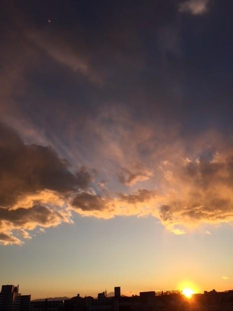 富士山と夕陽と雲2018.2.12