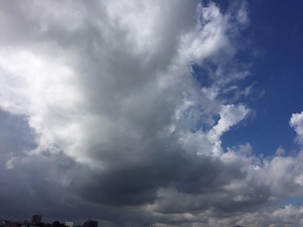 写真: おおみやえきからの空と雲2018.7.9