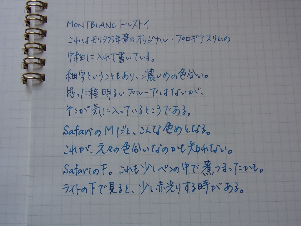 Color of Montblanc Tolstoy Ink #2