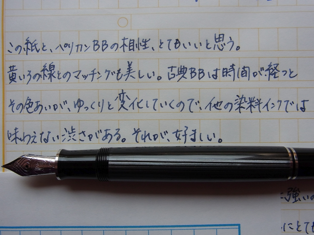 Pelikan M805 Stresemann + Pelikan Blue Black + Manuscript Paper which Kyo Kohinata Custom-Ordered