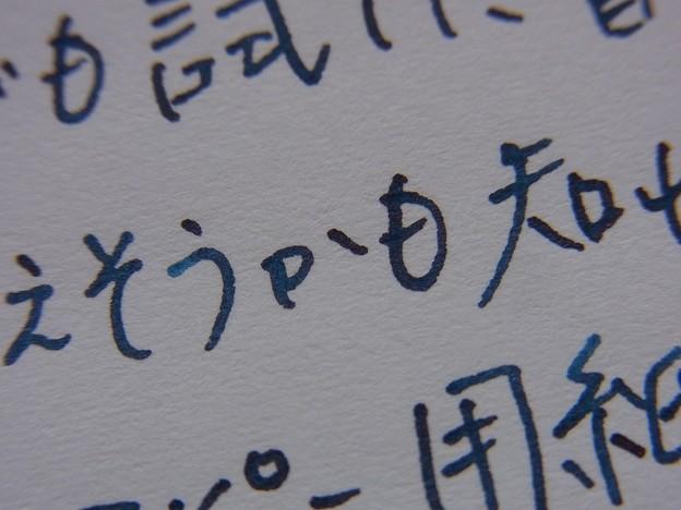 Pilot Elabo-Metal + Pilot iroshizuku tsuki-yo ink + OA paper (zoom)