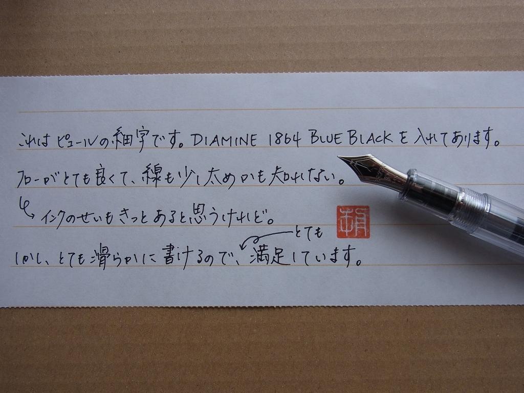 PLATINUM 3776 Century NICE PUR handwriting