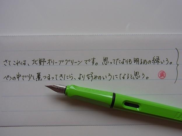 NAGASAWA Kitano Olive Green handwriting #1