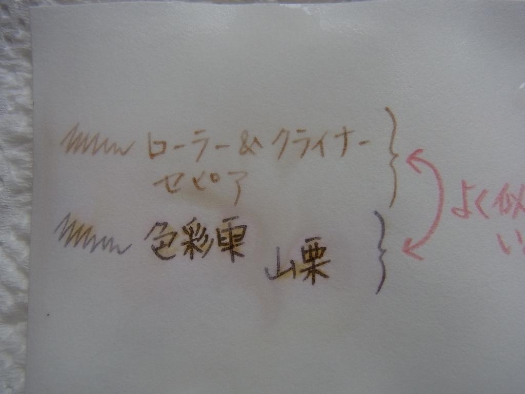 Rohrer & Klingner Sepia and Pilot iroshizuku yama-guri Water Resistant Examination (after)