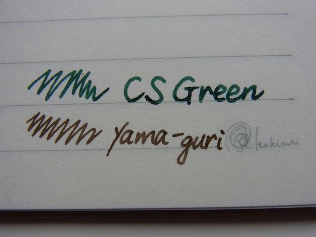 Conway Stewart CS Green & Pilot iroshizuku yama-guri
