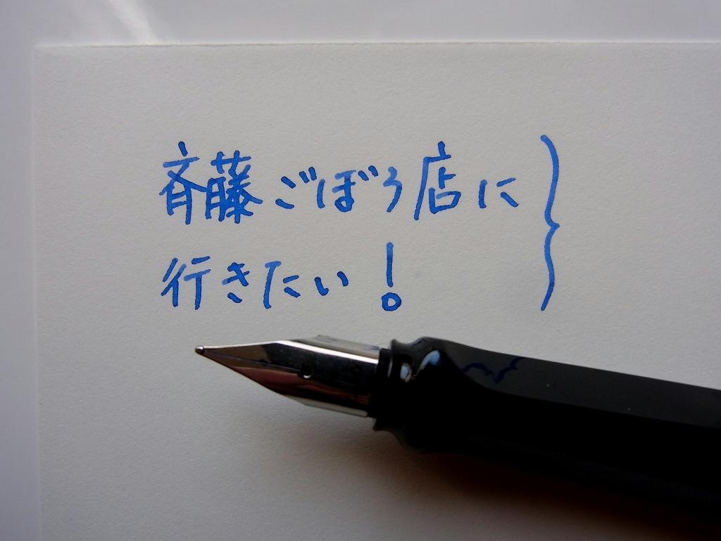 Pelikan Royal Blue & Turquoise Mix handwriting 2