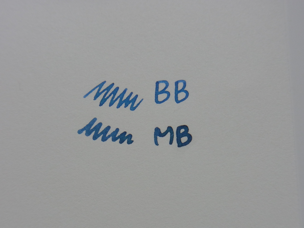 Waterman Mysterious Blue & Blue Black handwriting (progress)