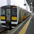 写真: 水郡線キハE130@水戸駅