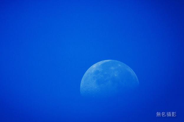 早朝のブルー月
