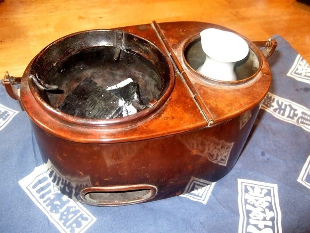 燗銅壺 飛龍 火入れ式