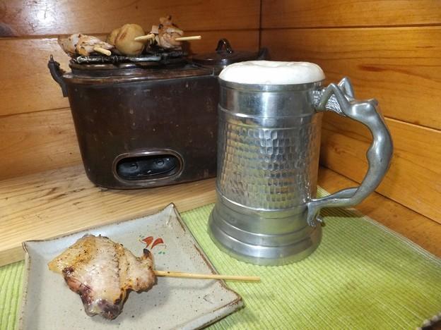 焼き鳥とビール