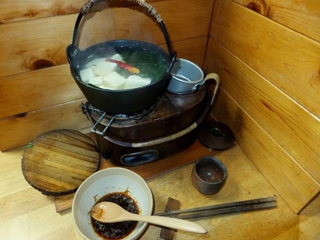 燗銅壺と湯豆腐