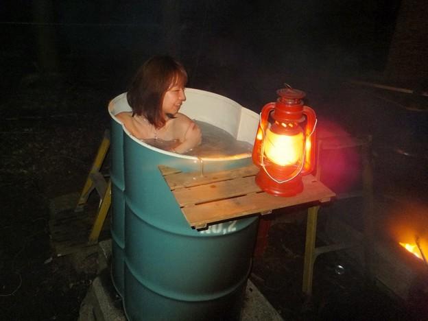ドラム缶風呂が大人気です
