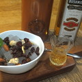 写真: みつ豆とウイスキー