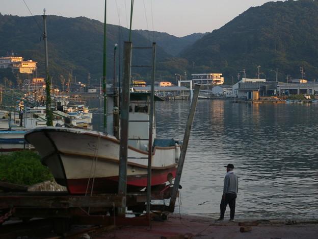 和具港の漁師