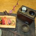 Photos: 寿司と燗銅壺