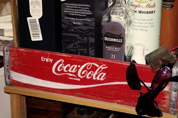 コーラの木箱