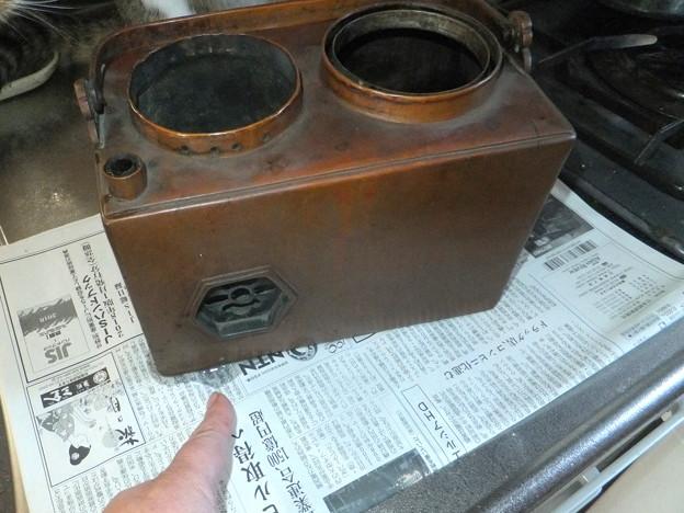 新燗銅壺の漏水