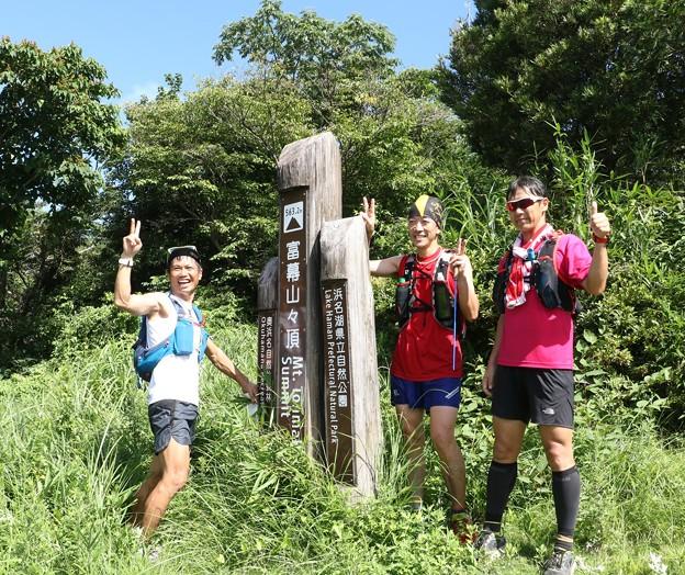 今朝富幕山に登って来たトレランの若い衆