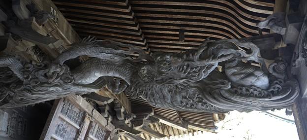 奥山方広寺宝珠を持つ降り竜