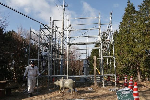 Photos: 猪の平展望台猪の平改修工事足場組作業