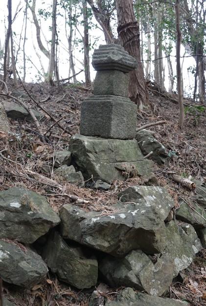 Photos: 富幕山「稚児塚」昔、幡教寺の小僧さんが鷲にさらわれ 死骸として発見されここに葬うした。