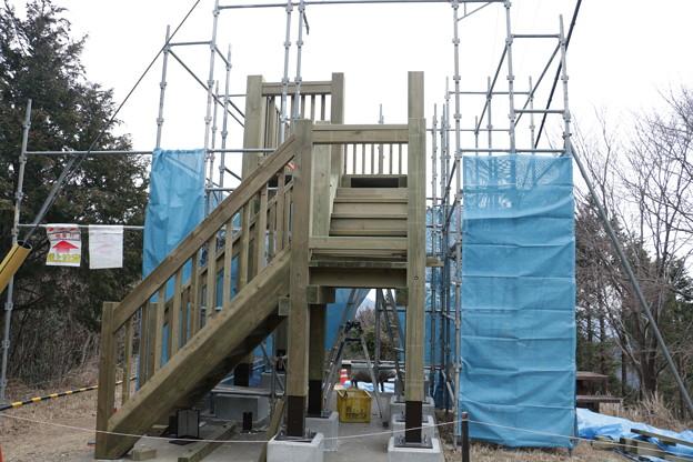 富幕山猪の平展望台改修工事