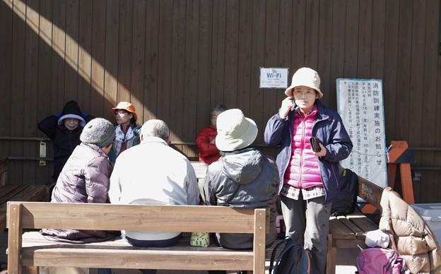 森林公園旧山友とその仲間と消防訓練の看板31年2月15日(金)