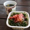 Photos: 富幕山朝食は途中買ってきた牛丼弁当で・・