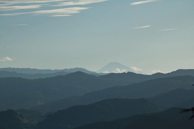 富幕山から今朝の富士山