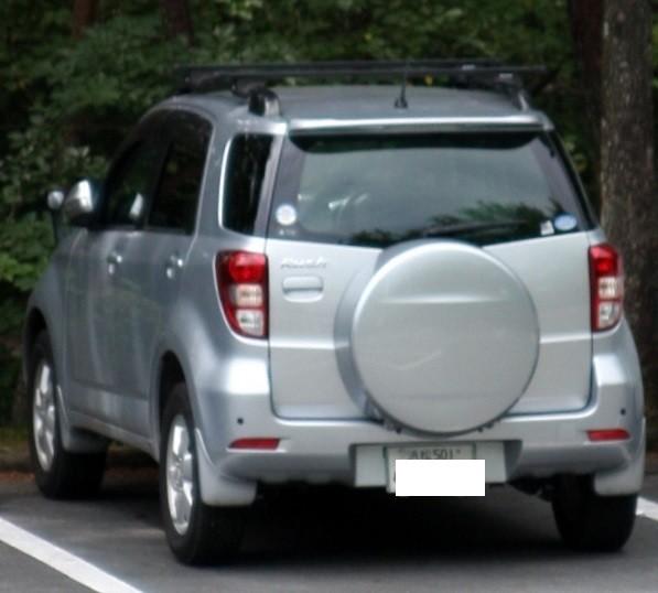 以前富幕山に来た頃容疑者が乗っていた車