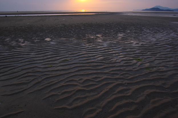 写真: 漣痕の浜