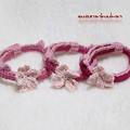 写真: ゆる花首輪 桜花付き ナミナミ仕上げ