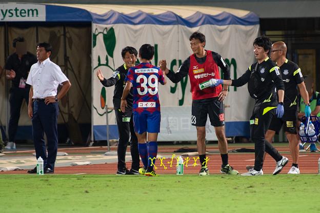 9月5日ルヴァンカップホーム柏戦 中山選手