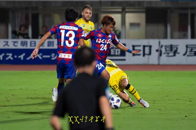 9月5日ルヴァンカップホーム柏戦 曽根田選手ゴール前