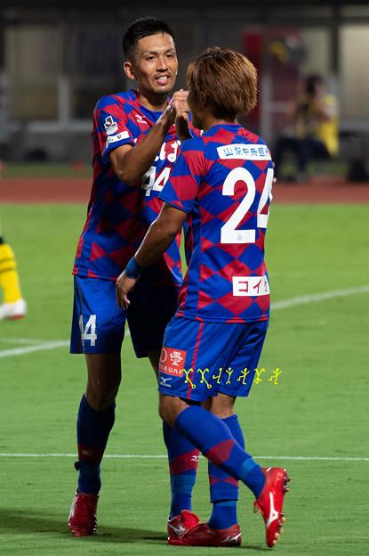 9月5日ルヴァンカップホーム柏戦 瀬戸、曽根田選手