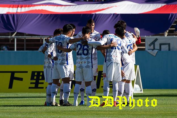 10月21日アウェイ栃木SC戦 前半円陣
