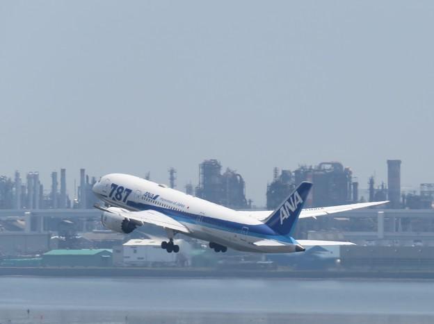 写真: 羽田空港にて!