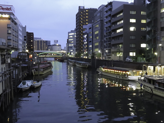 神田川の夕景