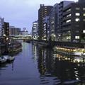 写真: 神田川の夕景