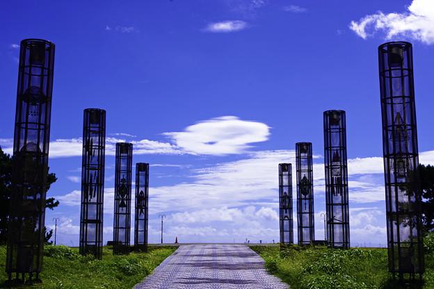 円柱のオブジェ