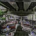 写真: 船溜まりの風景