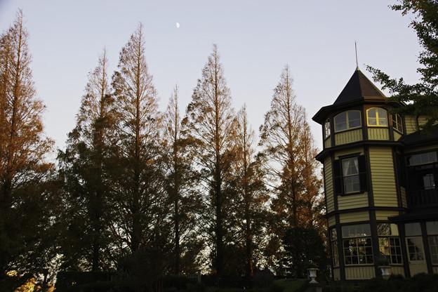 山手西洋館の夕景